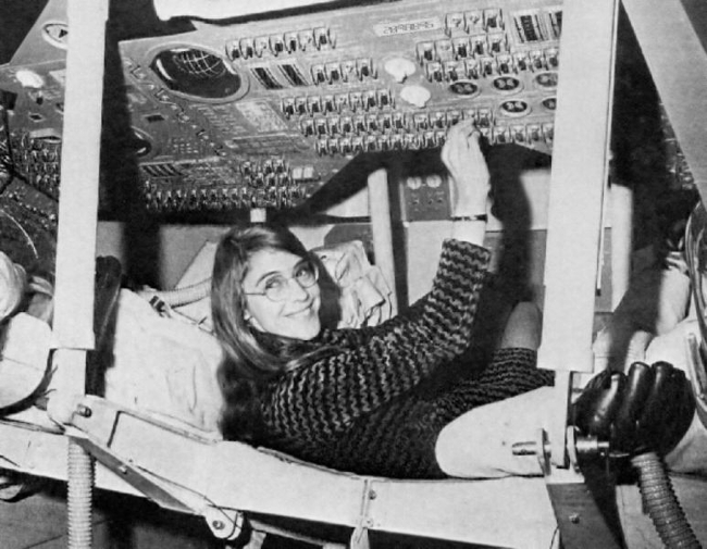 Margaret Hamilton, pictured during her time at NASA