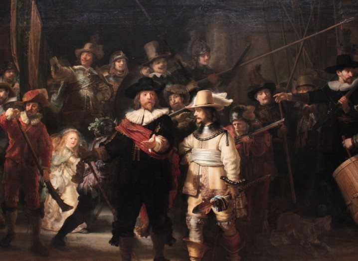 The Night Watch from Rembrandt at Rijksmuseum in Amsterdam