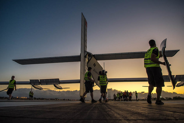 Solar Impulse 2 take-off