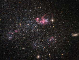 Hubble has snapped a 'distinctly disorganised' dwarf galaxy