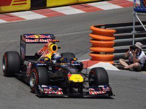 Sebastien Vettel in a Red Bull at the 2011 Monaco GP, via Wikimedia Commons