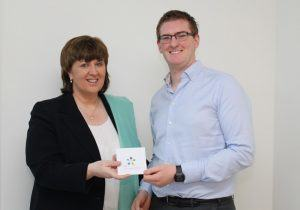Richard Lally pictured with Dr. Patricia Mulcahy earlier this year, via IT Carlow