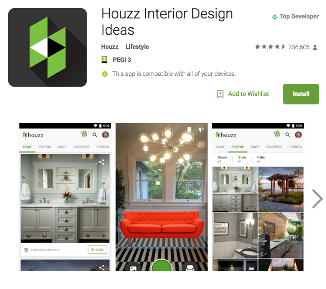 Houzz-google-play-awards
