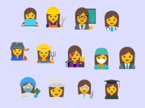 Google suggests 13 new professional female emojis