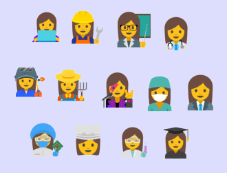 Google suggests 13 new professional female emojis