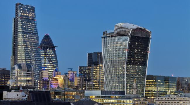 London skyline, via Shutterstock