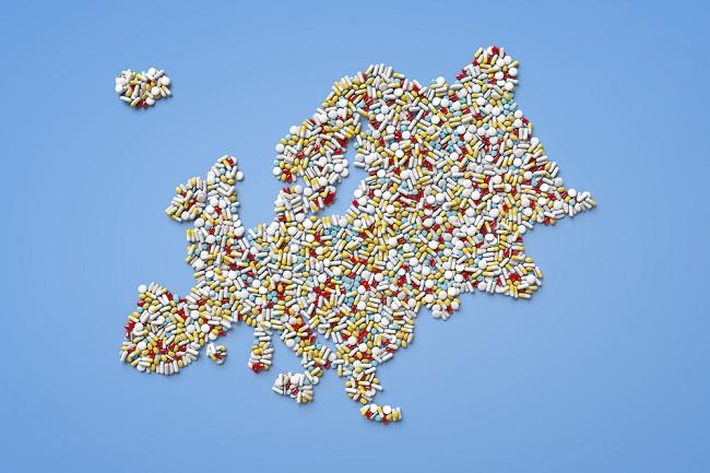 Map pills Europe