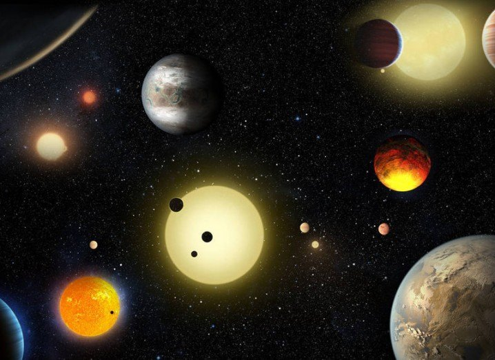 This artist's concept depicts select planetary discoveries made to date by NASA's Kepler space telescope, via NASA/W. Stenzel