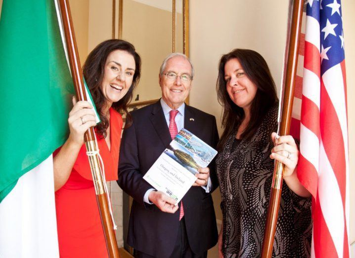 Joanna Murphy, CEO of ConnectIreland, US Ambassador Kevin O'Malley and Heather Stafford from Business Oregon