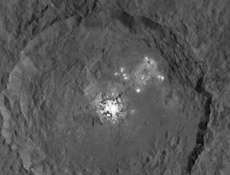 Ceres bright spot a hydrothermal, salty mound say researchers