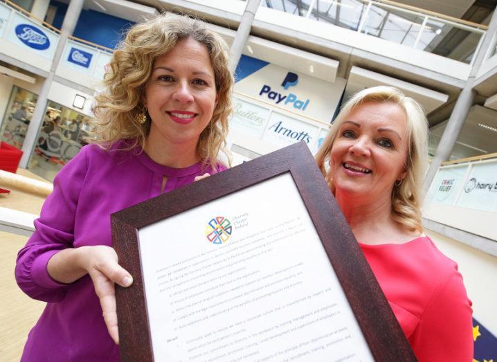Raffaella Bonomonte, director of PayPal in Ireland, and Louise Phelan, VP of global operations, EMEA