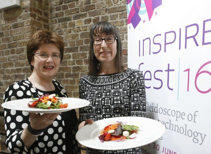 Margot Slattery, country president, Sodexo Ireland with Ann O'Dea, the founder of Inspirefest, at the official announcement of Sodexo's involvement in Inspirefest.