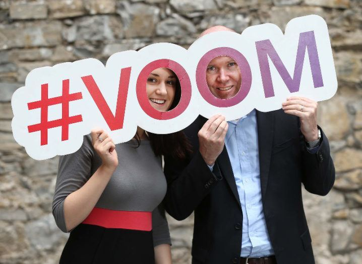 Iseult Ward, co-founder of FoodCloud and Gavan Smyth, Vice President of Virgin Business