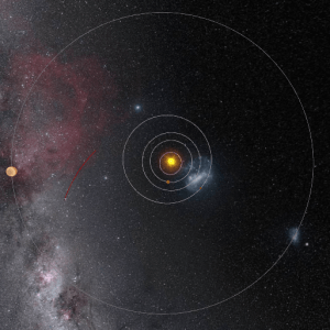 The location of Rosetta with respect to the Sun and several planets 30 September, 573 million km from the Sun and 720 million km from Earth, via NASA/JPL/Carnegie Institution of Washington