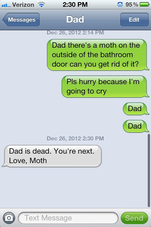 Dad joke via text