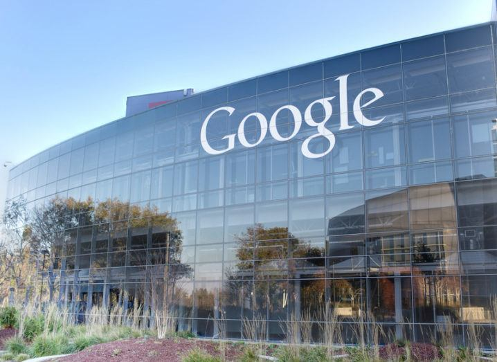 Google building in Mountain View, California