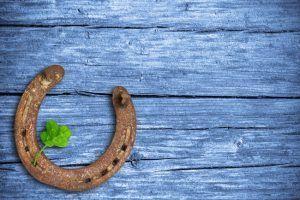Maths: four leaf clover and horseshoe