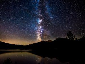 Light pollution: view of the Milky Way