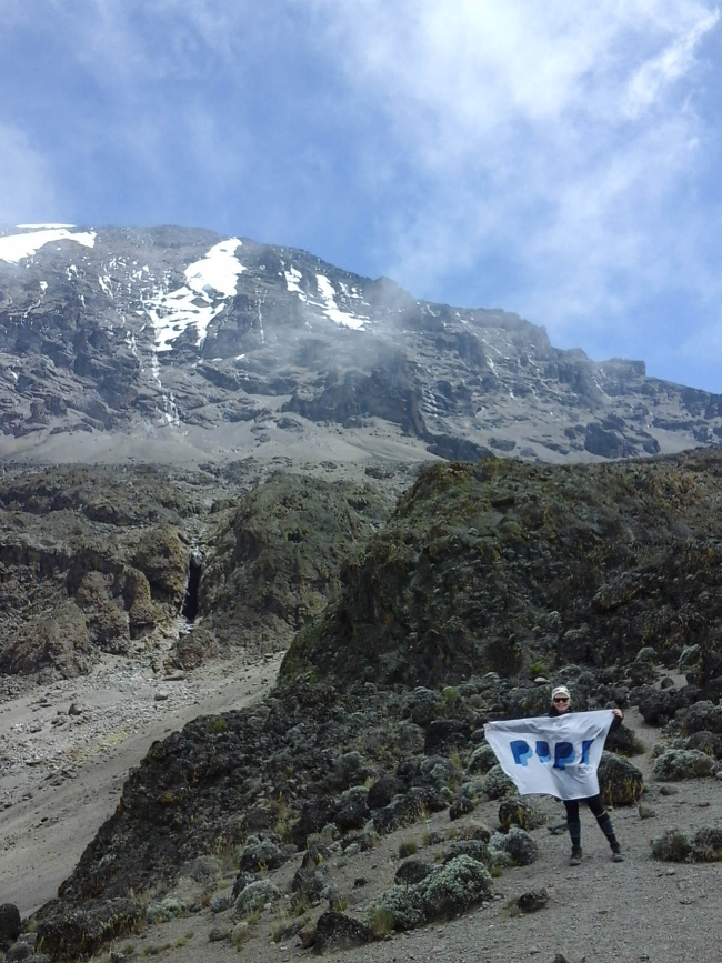 Aisling in the foothills of Kilimanjaro