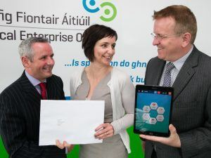 Pictured at the Fingal LEO announcement were (l-r) Paul Reid, chief executive of the organisation, Siobhan Maughan of Cliffrun Media and Oisin Geoghegan, head of enterprise at Fingal LEO, via Orla Murray/ Ark Photography