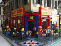 Welcome to Brick City Records: a record store made entirely of Lego
