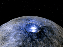 Where did all of the large craters on Ceres go?