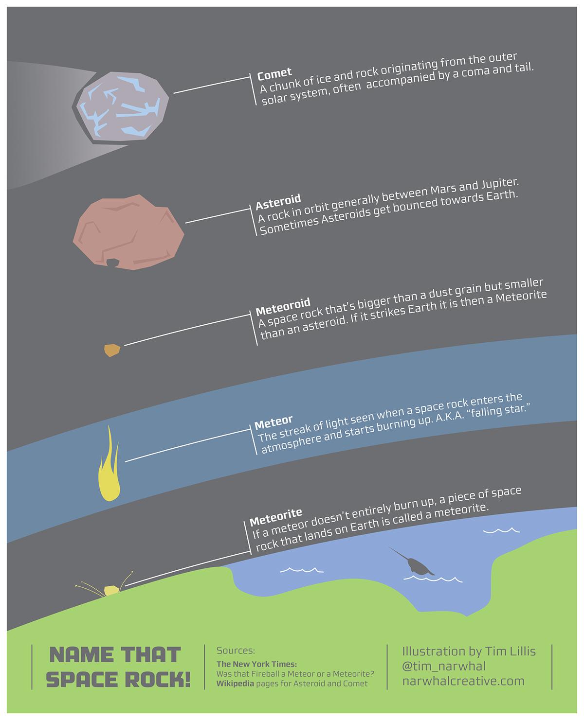 Comet meteorite