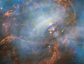 Hubble glimpses beating core of the Crab Nebula