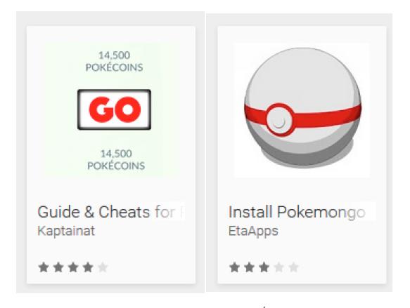 Pokémon Go fake apps