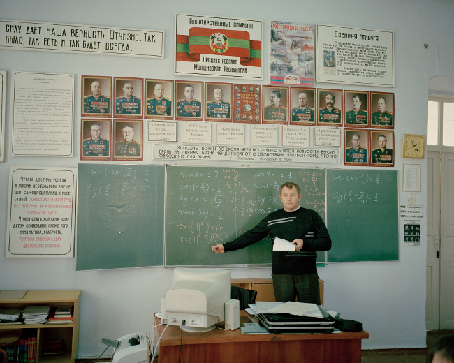 Math lesson in the school of Grigoriopol – image via Emile Ducke, student spotlight section at Magnum and LensCulture Photography Awards 2016