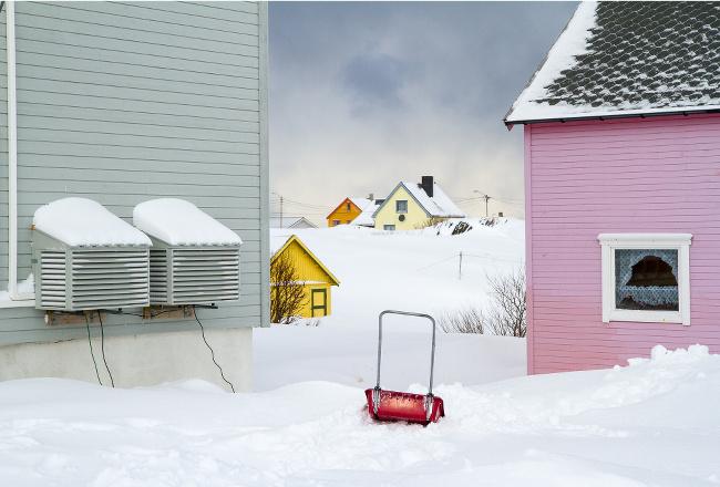Winter in Berlevaag, Norway –image via Liz Palm
