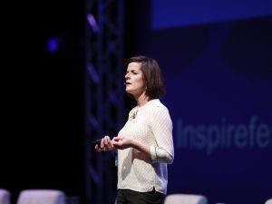 Adrienne Gormley, global head of customer experience, Dropbox, delivering Future of Work keynote