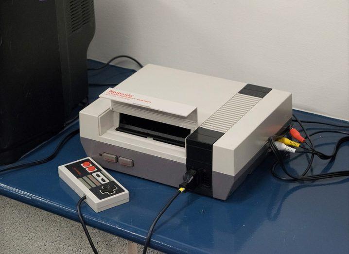 The original Nintendo NES console