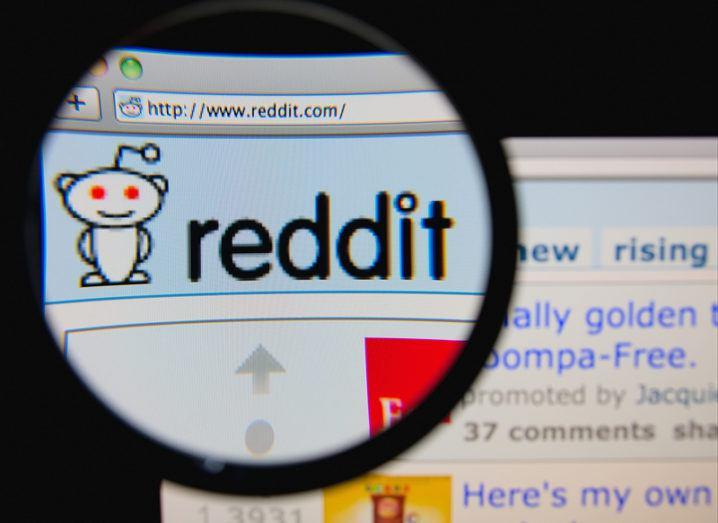 Reddit home page