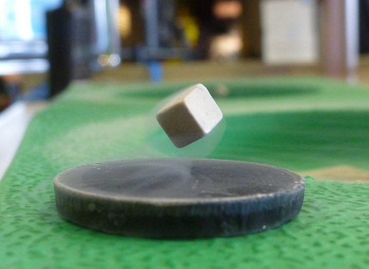 Superconductors floating