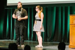 HybridConf founders Zach Inglis and Laura Sanders