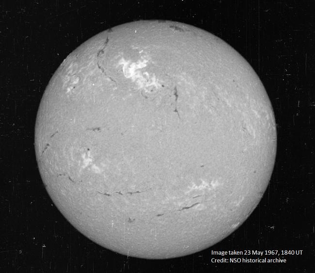 1967 solar storm image