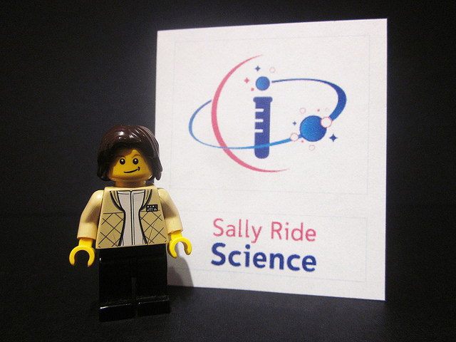 Maia's Lego version of Sally Ride. Image via Flickr/PixByMaia