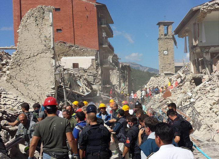 Red Cross Italy earthquake