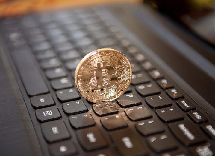 Bitcoins laptop