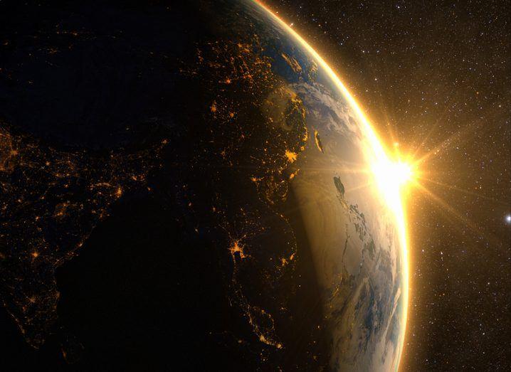 Quantum satellite China from space
