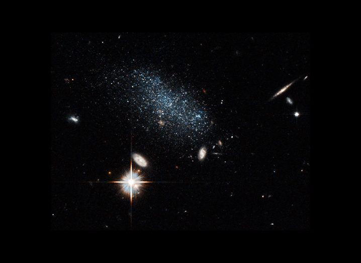 Hubble Telescope dwarf galaxy