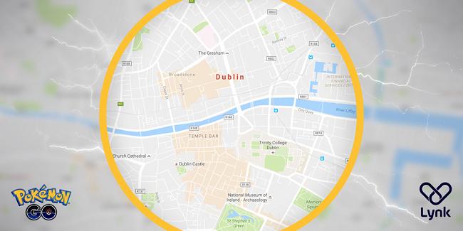 Pokémon Go map Dublin