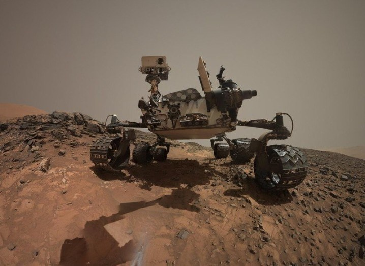 A selfie of NASA's Curiosity Mars rover right where it drilled for 'Buckskin', via NASA/JPL-Caltech/MSSS