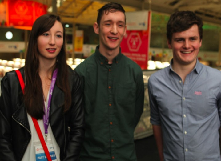 Founding members of the Digital Youth Council Ciara Judge, Lee Campbell and Harry McCann
