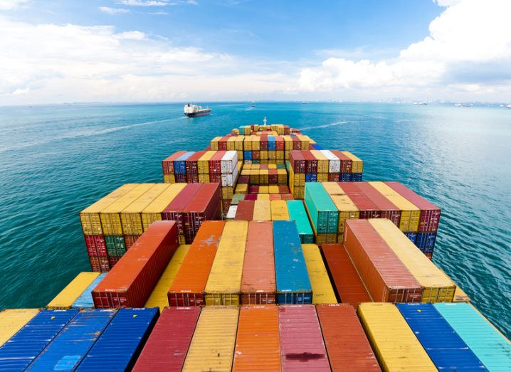 Maths: shipping containers on ship