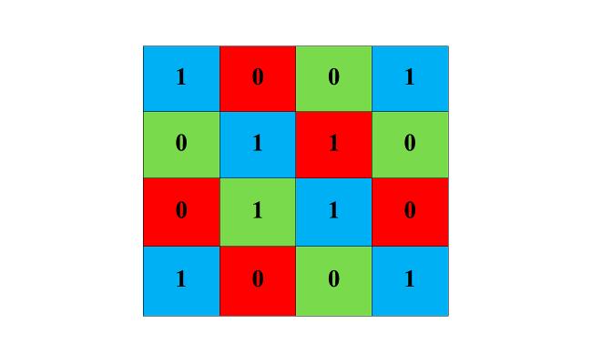 Maths solution: diagonals lit