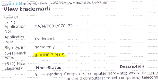 apple-iphone-7-plus-trademark-application