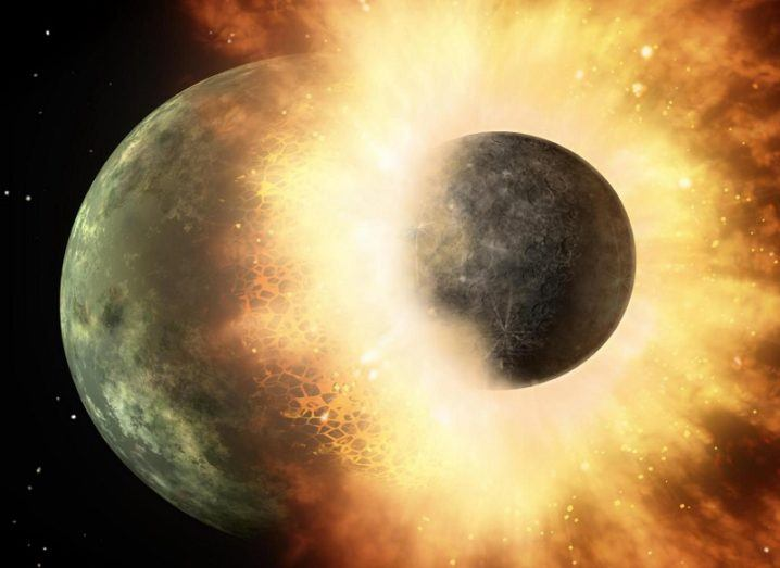 Planetary collision likely source of Earth's carbon