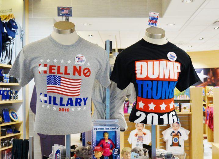 Register to vote: Clinton Trump
